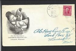 Ladysmith,wisconsin.1907,cover,319,oval Bar.grid Cl, Advtladysmith Poultry Co.