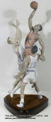 Large 27 Lladro Signed Porcelain Figurine And Base To The Rim 1800 Basketball