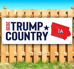 Trump Country Iowa 2020 Advertising Vinyl Banner Flag Sign Pence Election