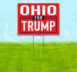 Ohio For Trump 18x24 Yard Sign With Stake Corrugated Bandit 2020