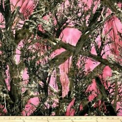 Pink True Timber Mc2 Outdoor Tree Branch Conceal 100 Cotton Fabric - Pick Size