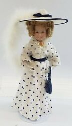 Shirley Temple Porcelain Doll-danbury Mint-all Dolled Up-75th Birthday