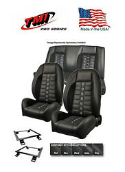 Tmi Pro Series Sport Xr Lowback Seats Brackets And Rear Cover And Foam 67 Camaro