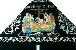 Black Embroidered Priest's Vestments Icon Russian Style To Order