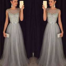 Women Wedding Bridesmaid Evening Party Cocktail Prom Gown Maxi Long Dress $11.99