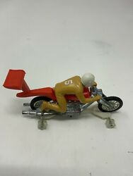 Vintage Rrrumblers High Tailer Red Motorcycle Toy Hot Wheels Redline With Rider