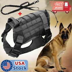 Tactical Dog Harness Molle Canine Harness K9 Training Vest Military Hunting USA