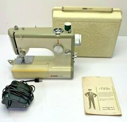 Vintage Sears Kenmore Portable Sewing Machine Model 158-10400 Rose Case, Pedal