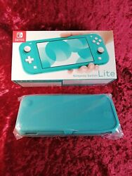 Nintendo Switch Lite 32gb Console -turquoise-japan Version With Pro Case In Hand