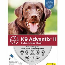 K9 Advantix II for Extra Large Dogs Over 55 lbs 6 Pack FREE Shipping
