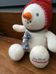 Htf Baby Gund My First Snowman Plush Whimsy Wishes Carrot 319862 Soft Toy