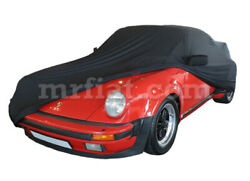 For Porsche 911 930 Turbo Black Indoor Fabric Car Cover W/ Mirror Pockets 75-89