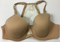 Soma Womenandrsquos Embraceable Geo Lace Racerback Full Coverage Bra Nude Size 34d