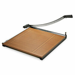 X-acto Square Commercial Grade Wood Base Guillotine Trimmer 20 Sheets 24 X 24