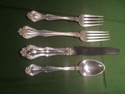 Sterling Silverware George And Martha By Westmoreland 48 Pieces For 12 1940's