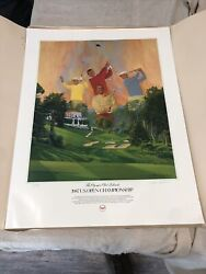 1987 Us Open Poster Olympic Club. Signed Nick Leasku Limited Edition.
