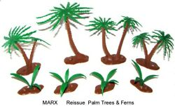 Marx Reissue Set Of Palm Trees And Ferns For Your Toy Soldiers