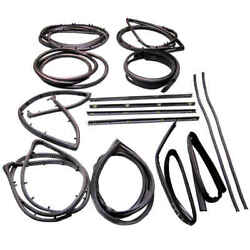 15 Piece Weatherstrip Kit For Jeep With Stationary Vent For 68-86 Jeep Cj5