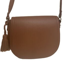 Brown Faux Leather crossbody Woman's purse With Tassels Handbag $9.00