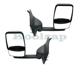 99-05 F-super Duty And Excursion Short Arm Rear View Tow Mirror Power Set Pair
