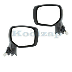 For 14-18 Forester Rear View Door Mirror Assembly Power Heated Black Set Pair
