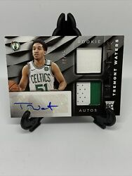 2019-20 Panini Black Tremont Waters Rookie/dual Patch/auto 9/25 Boston Celtics