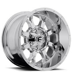 4 20x10 Fuel Wheels D516 Krank Chrome Off Road Rims B45
