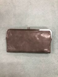 Hobo Int#x27;l quot;Laurenquot; Wallet Double Frame Leather Stone NWT So pretty $85.00