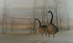 P. Buckley Moss Geese At Twilight Signed And Numbered Print