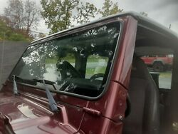 1997-2002 Jeep Wrangler Tj Factory Windshield Frame + Free Glass And Hinges Pu7