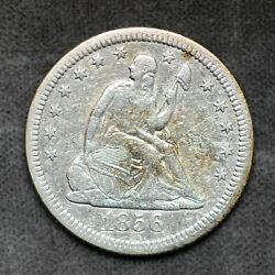 1856 O Liberty Seated Quarter 25c 90 Silver Coin Us Mint Collector Estate