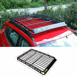 For 2017-2020 Jeep Compass Black Steel Top Roof Rack Luggage Carrier Rail 1set