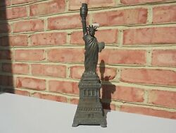 Unusual Antique Statue of Liberty Metal Table Lamp