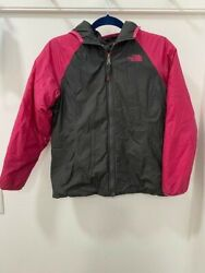 North Face Large Girls Pink and Grey Reversible Coat $44.00