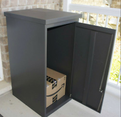 Parcel Drop Box Large Locking Mailbox Secure Package Delivery Steel Locker Mail