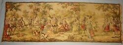 ANTIQUE VICTORIAN HAND WOVEN FRENCH TAPESTRY MADE IN BELGIUM 54quot; X 19quot; CA 1920#x27;s