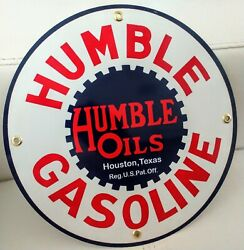 Humble Gas Oil Gasoline Sign .. Free Shipping On Any 8 Signs