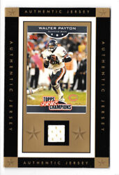 Topps True Champions Walter Payton Jersey Relic Card W/ 4x6 Border And Stand Bears