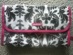 NWOT Modella Hanging Cosmetic Toiletry Bag for Travel Hot Pink Black NICE $12.00