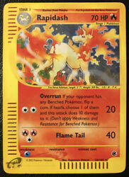 Pokemon Expedition Base Set Rapidash 26/165 Holo Rare Heavily Played Condition