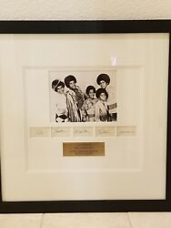 The Jackson 5 Five Michael Plus All Autographed Cards With Photo