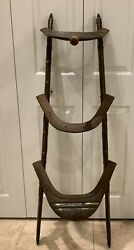 Antique Wood And Brass African Or Middle East Camel Saddle