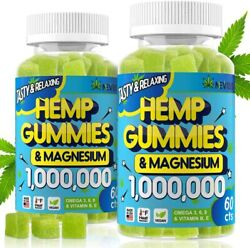 2 Pack Gummies 1000000 With Magnesium Gummies For Pain And Anxiety Relief
