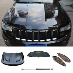 For 2011-2020 Jeep Grand Cherokee Black Car Front Engine Hood Bonnet Cover 5pcs