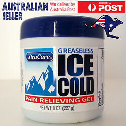 Pain Relief Gel Greaseless Xtra Care Ice Cold Physio Muscle Joint Ache Balm 227g