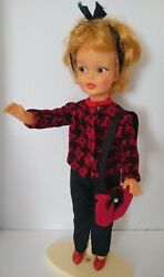 Vintage Tammy Ideal Golden Blonde Pepper Doll Lot G9-w 4 W/5 Outfits,shoes/purse