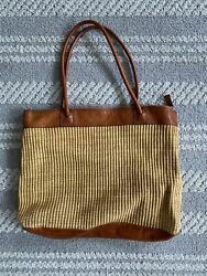 Vintage Made In Italy For J.l. Hudsonandrsquos Leather Tote Bag
