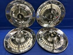 Vintage Set Of 4+3 1959 Dodge 15andrdquo Spinner Hubcaps Coronet Lancer Hot Rod Mopar