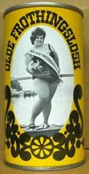 OLDE FROTHINGSLOSH BEER YELLOW ss CAN with MISS Pittsburgh PENNSYLVANIA 1 1