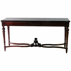Superb French Bronze Mounted Marble Top Console Table Sideboard Buffet Server